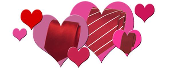 Valentinstag Krawatte