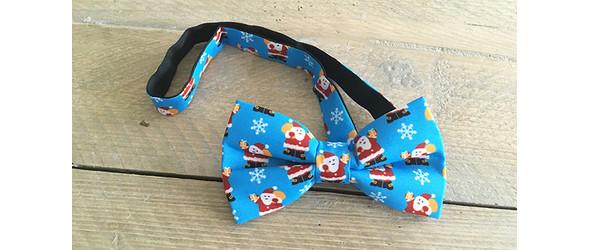 blaue Weihnachtsfliege Weihnachtsmann