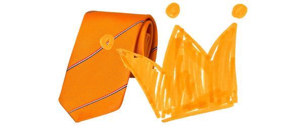 stropdas koningsdag oranje