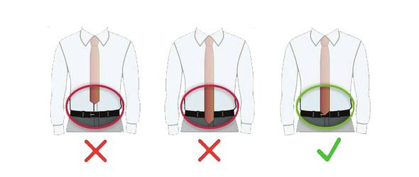 De juiste lengte van de stropdas