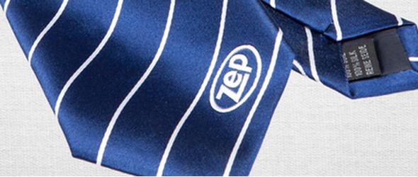Krawatte mit Logo Plaatje